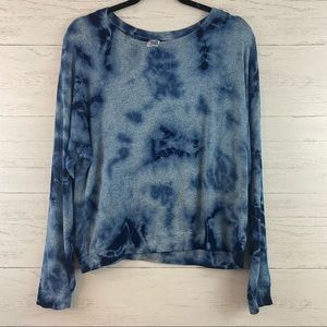 Erge Blue Tie Dye Long Sleeve Top